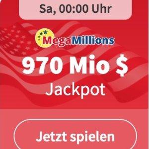 周六凌晨开奖 3次机会仅€3本月最高大奖!MegaMillions彩票累计9.7亿美金 62亿人民币呀!
