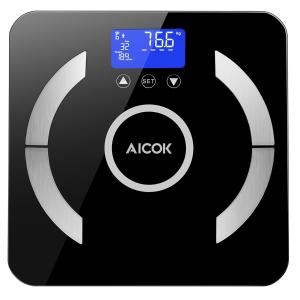 $23.09 (原价$32.99)Aicok 高精度智能体脂/体重分析秤