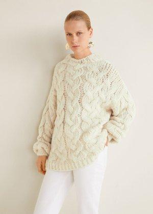 Knitted braided sweater -  Women   MANGO USA