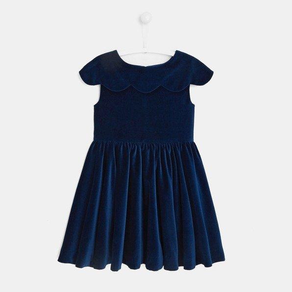 女童天鹅绒连衣裙