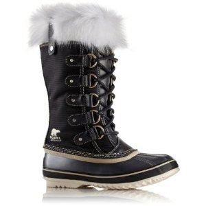 $112Women's Joan Of Arctic X Celebration Waterproof Nylon Faux Fur Trim Felt Lined Winter Boot
