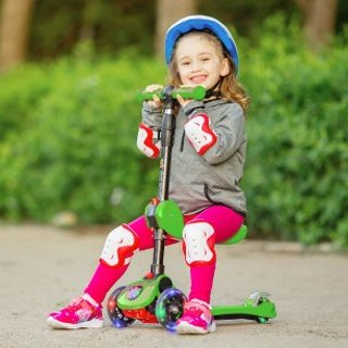 立减$10  全部$59.95儿童三轮滑板车特卖,收2合1可骑行滑板车