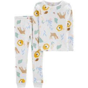 Carter's清仓品小童有机棉睡衣2件套