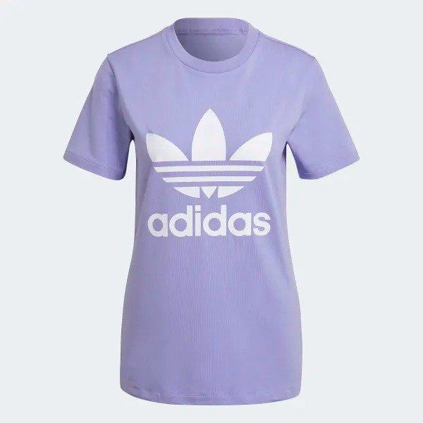 Adicolor Classics Trefoil 香芋紫T恤