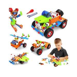 4折 $8史低价:VATOS 益智5合1拼搭玩具组合,165片