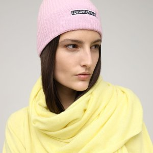 LuisaViaRoma2折!白菜价粉色logo毛线帽