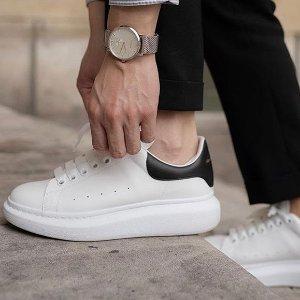 低至3折或正价8.5折独家:Alexander McQueen 爆款小白鞋热卖 色全白搭