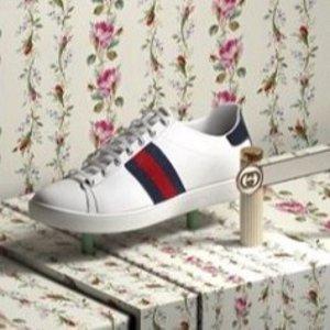 低至2折+包邮包税独家:Gucci 专场,热卖小白鞋$300+