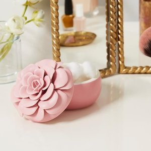 ILLUME新鲜海盐陶瓷罐花朵蜡烛 粉色