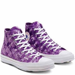 Converse x GOLF le FLEUR* 香芋紫丝绒帆布鞋