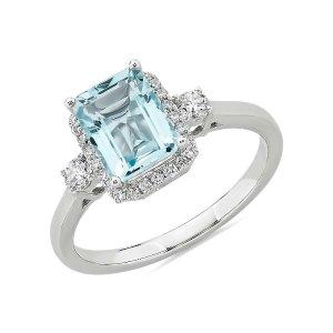 Blue Nile14k白金戒指