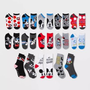 DisneyWomen's Mickey Mouse & Friends 15 Days of Socks Advent Calendar - Assorted Colors One Size