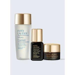Estee Lauder线上6.1折!微精华水+小棕瓶精华+眼霜小棕瓶明星3件套
