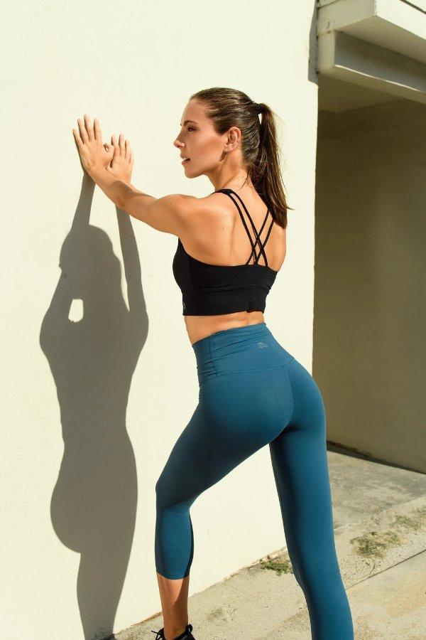 女款纯色legging