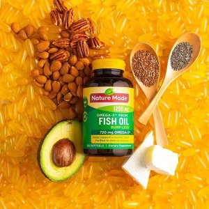 240粒钙片$19 维生素B$3.9收Nature Made、Nature's Bounty鱼油等保健品大促