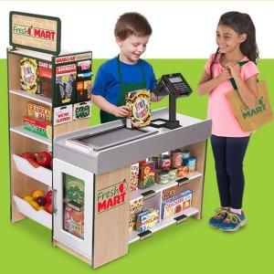 限今天:Melissa & Doug 儿童过家家木质超市收银台+货架