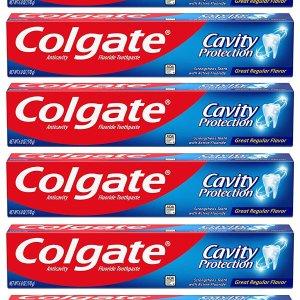 $7.52 包邮 一支仅$1.25Colgate 高露洁防蛀保护牙膏 6oz x 6支装