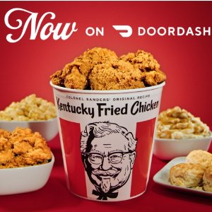 即送12块炸鸡条+免送餐费最后一天:DoorDash X KFC 肯德基全家桶套餐限时优惠