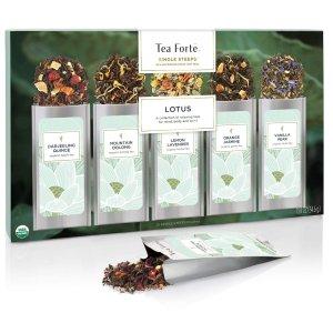 现价$11.24(原价$14.99)TeaForte  5口味有机花草茶礼盒装 15包
