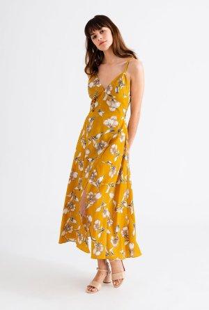 carly dress - mustard