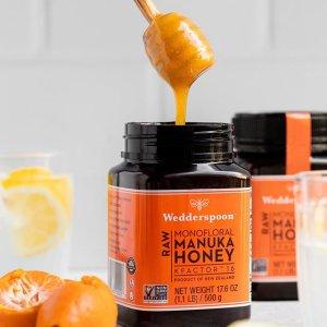 8折 $8.79收果味蜂蜜棒棒糖Wedderspoon 非转基因麦卢卡蜂蜜 $11.99收蜂蜜苹果醋750ml