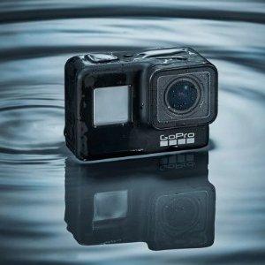 送GOPRO AKTES-001 ADVENTURE KITGOPRO Hero7 运动相机  1200万像素的摄像头,前后双屏幕设计