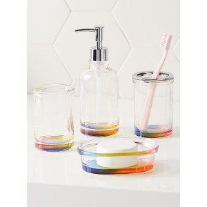 彩虹刷牙玻璃杯