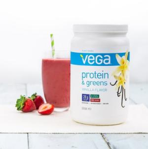 $18Vega Protein & Greens, Vanilla, 1.35 lb