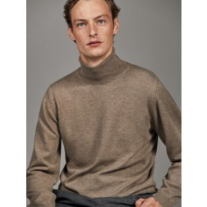 Massimo Dutti羊毛羊绒混纺毛衣