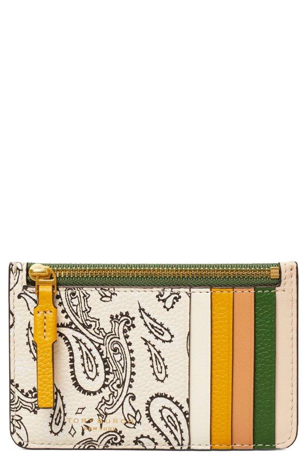 Perry Paisley印花卡包