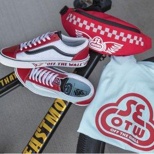 新人8折 €64入板鞋VANS x SE Bikes 联名最新款上架 红蓝cp配色超能打