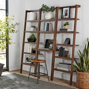 Mainstays Sumpter Park Ladder Bookcase Desk