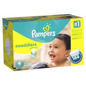 $39.99 +送$5电子礼卡Pampers Swaddlers  帮宝适纸尿布 1-6号可选