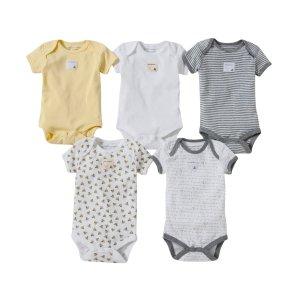 Burt's Bees Baby婴儿有机棉短袖包臀衫5件装