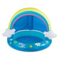 Summer Waves 彩虹造型带遮阳充气小泳池