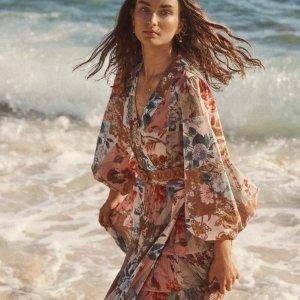 无星标6折!€285收印花上衣Zimmermann 新品大促 收仙女连衣裙、上装、半身裙