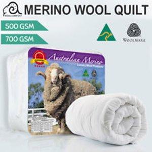 低至1.9折  WOOLMARK认证畅销单品:100% 澳洲产羊毛被  500/700GSM  多尺寸可选