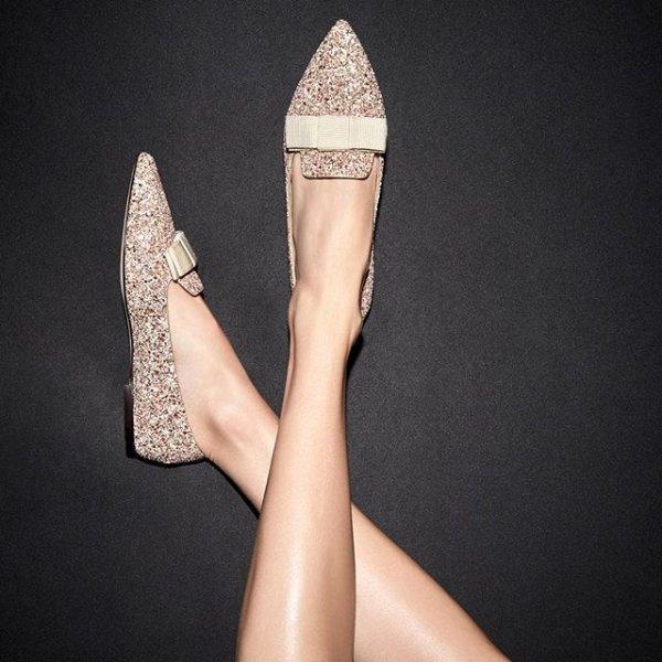 Gala亮片平底鞋