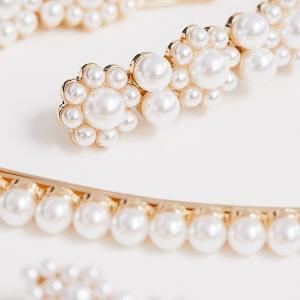 $16 收明星类似款珍珠发夹ASOS 精致仙气首饰配饰 抢鲜热卖