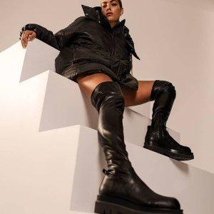 6折起 $120收低跟一字带凉鞋Tony Bianco 澳洲小众网红品牌 超显腿细的骑士靴仅$250