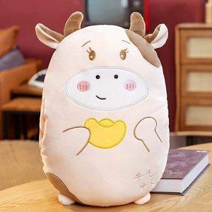 牛年好礼物哟~小牛牛暖手枕