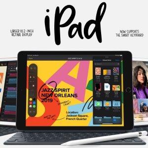 $329起,学生价$309第七代 全新10.2吋 iPad 发布,iPad OS同步应用,更大更强