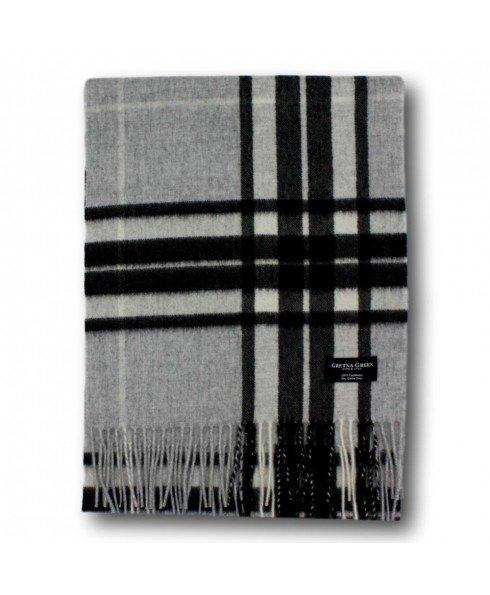 灰黑格纹围巾