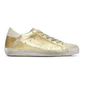 80ef4d50b51d Golden Goose Deluxe Brand- Gold   Grey Skate Superstar Sneakers