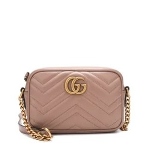 Gucci[LOWEST PRICE] GG Marmont Camera Mini Quilted Leather Shoulder Bag