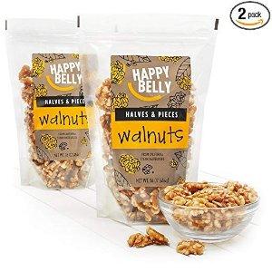 $12.34起 亚马逊自制 放心又健康Amazon Brand Happy Belly 杏仁、核桃等多款坚果热卖