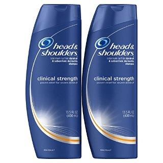 Head and Shoulders Clinical Strength Dandruff and Seborrheic Dermatitis Shampoo 13.5 Fl Oz (Pack of 2) @ Amazon