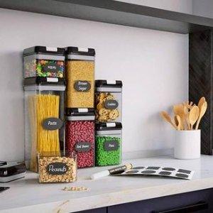 $39.92包邮(原价$56.21)Chef's Path 可贴标签 透明食品储存容器 7件套