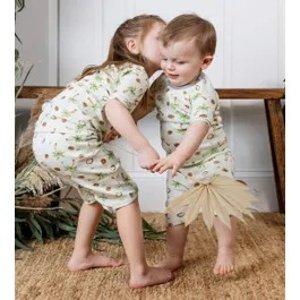 Burt's Bees BabyCoco-Nuts Organic Baby Snug Fit Pajama Short Set