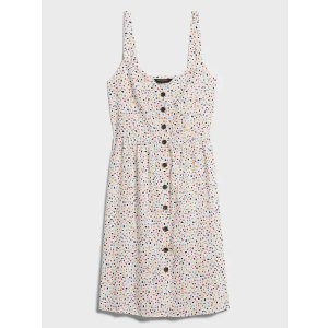 Banana RepublicButton-Front Fit-and-Flare Dress
